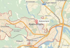 Красногорск на карте