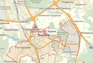 Видное на карте