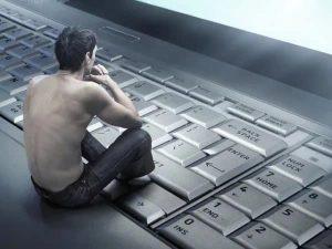 Парень зависимый от интернета