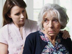 Старческое слабоумие у пожилой женщины