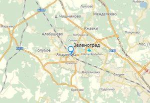Зеленоград на карте