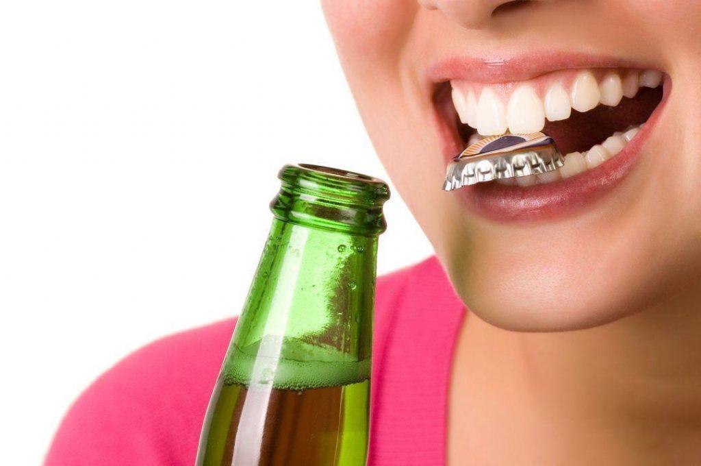 Пиво портит зубы